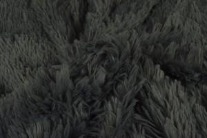 Plüschstoff 17 dunkelgrau
