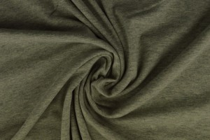 Baumwolle jersey m2 grau melange