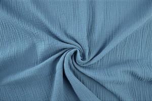 Musselin 138 stahlblau