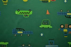 Cotton jersey print - wow 01-32 grün