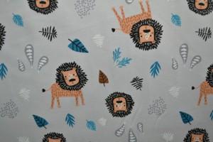 Cotton jersey print - wow 09-25 silbergrau