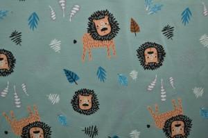 Cotton jersey print - wow 09-34 alt grün