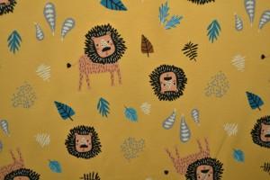 Cotton jersey print - wow 09-47 ocker