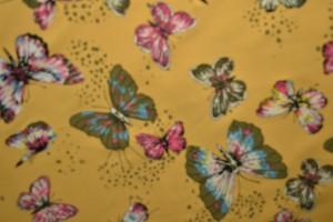 Cotton jersey print - wow 17-47 ocker