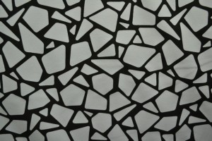 Cotton jersey print - wow 19-25 silbergrau