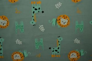 Cotton jersey print - wow 06-34 alt grün